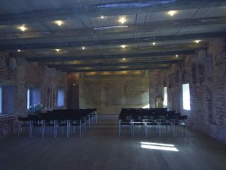 The Auditorium for the cistercienser-monks. Esrum Monestary.