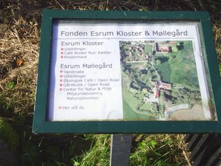 Map of Esrum Kloster and Esrum Møllegaard.