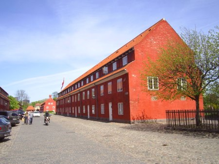 Kastellet 1661-65.The military buildings for soldiers and their family. Still in use today. Photo:2. may 2009.